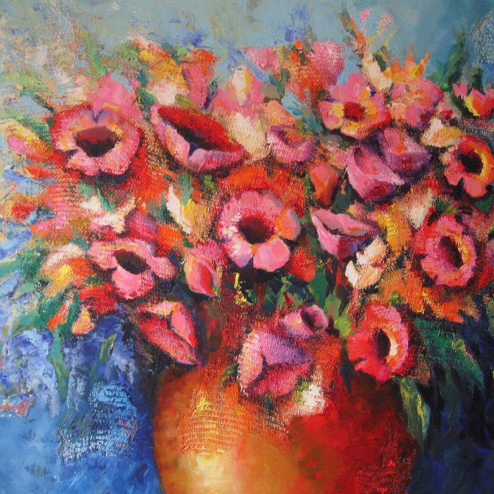Vaas met bloemen 1