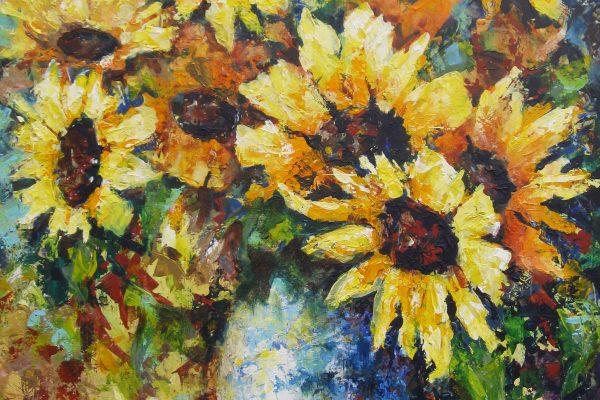 Vaas met zonnebloemen 2