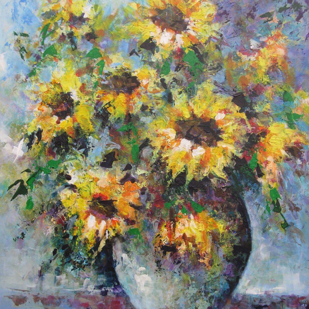 Vaas met zonnebloemen 1
