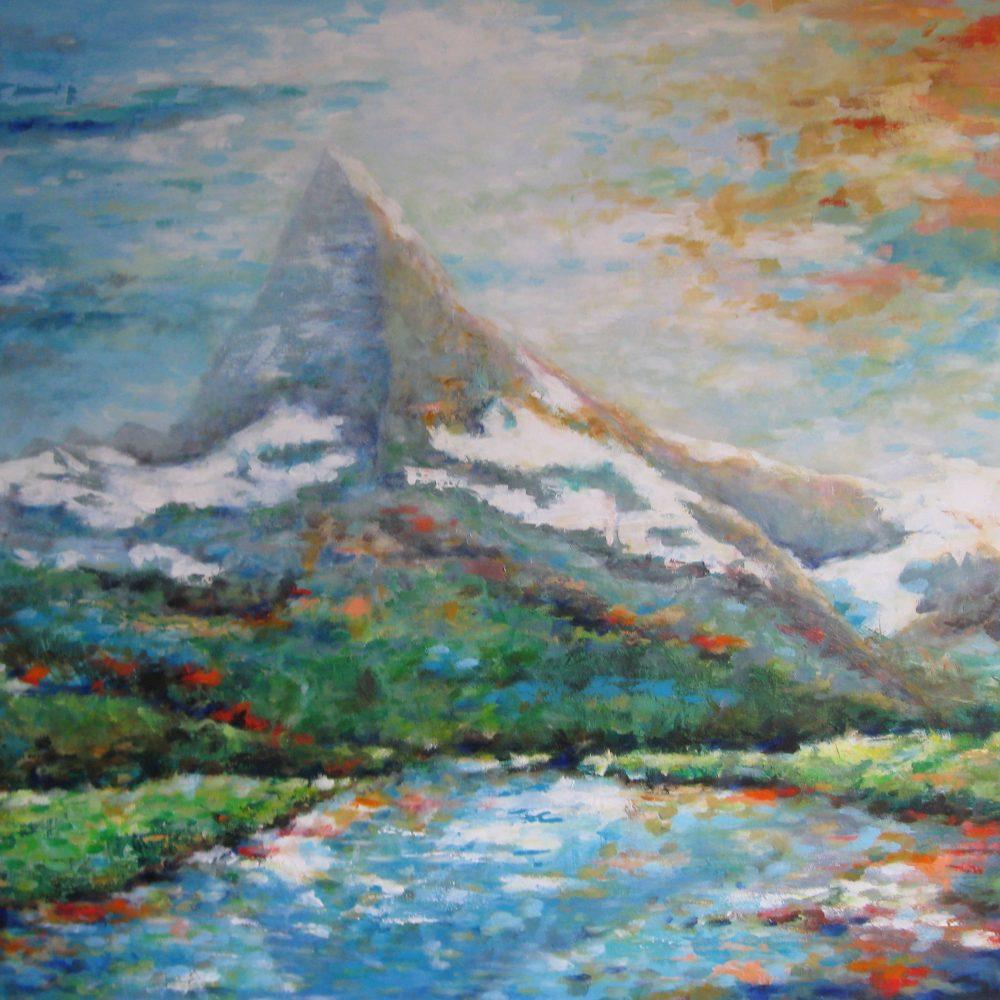Matterhorn 100 x 80 cm.