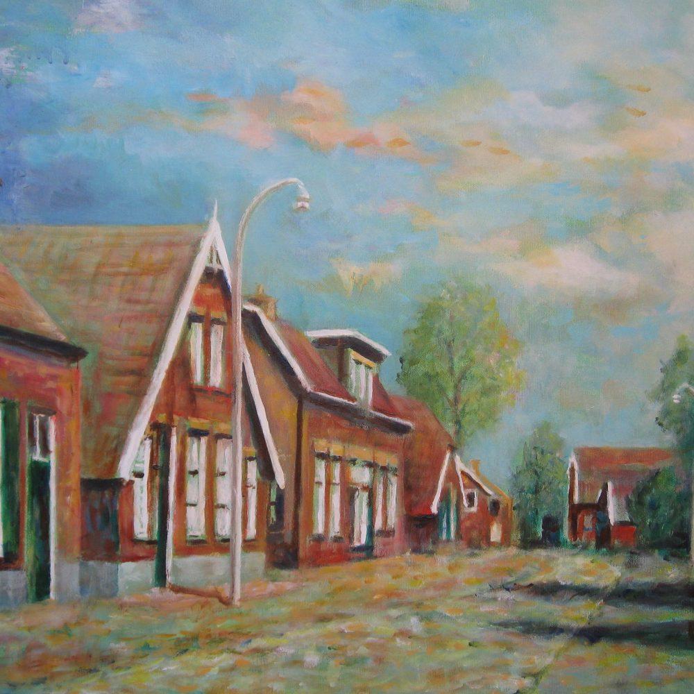 Dorpsstraat Enter 80 x 60 cm.