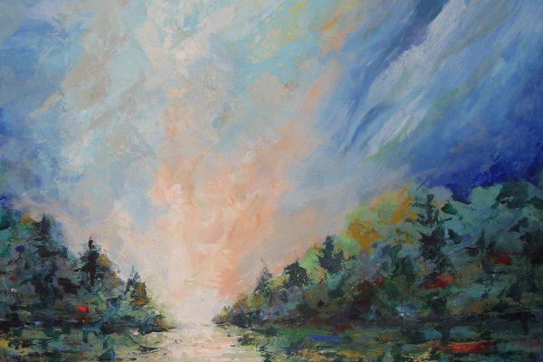 Landschap 75 x 115 cm.